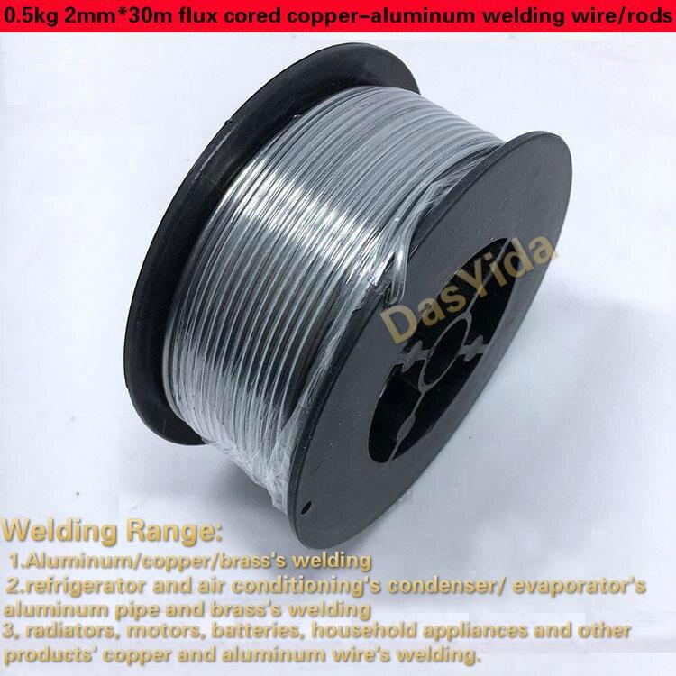 1 rouleau 0.5 kg 2mm * 30 m fil/tiges de soudage cuivre-aluminium fourré à basse température