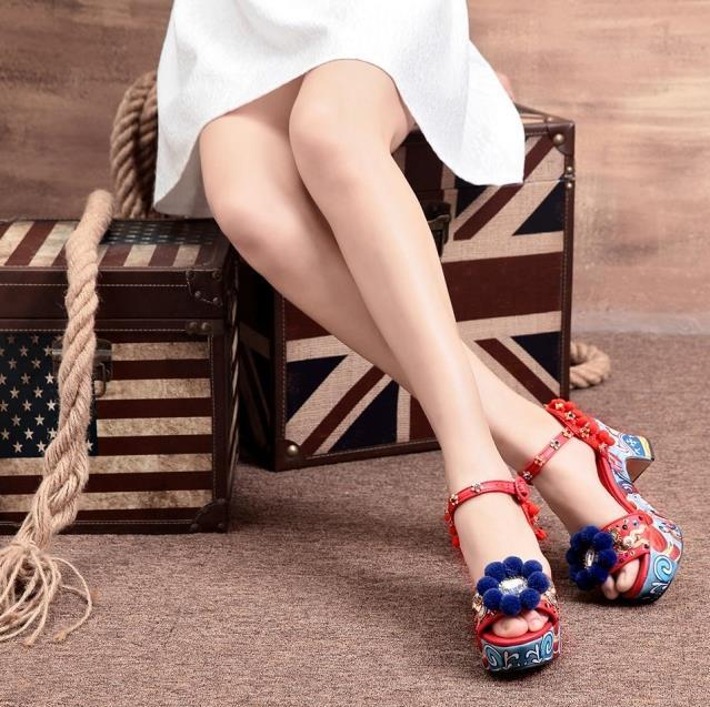 Lailailaily beaded sandals summer shoes party sexy pearl fashion women flat bottom sandals brown