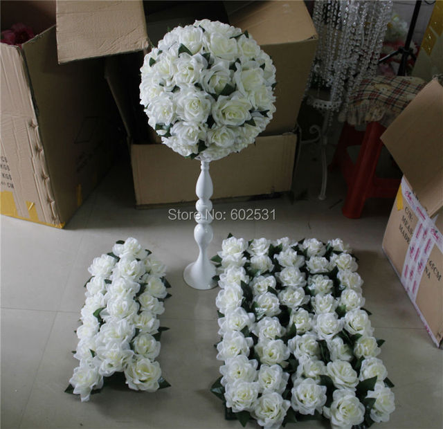 Spr High Quality Wedding Flower Wall Stage Or Backdrop Decorative Whole Artificial Table Centerpiece