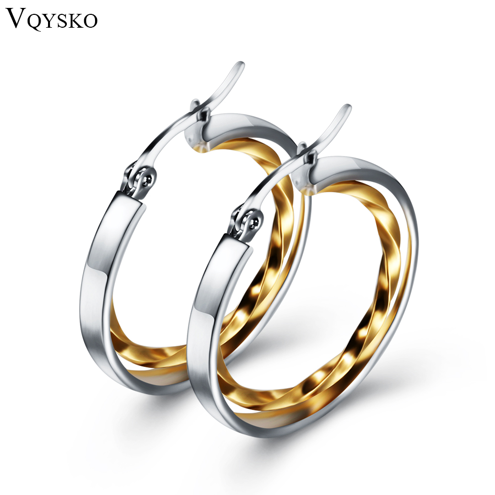 Jewelniba fashion 2019 Earring for women Promotion earrings wedding jewelry Dainty Gold Color Lady Hoop Earrings