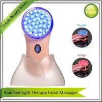 Xách Tay Mini Home Sử Dụng Màu Đỏ Màu Xanh Led Ánh Sáng Photon Therapy Chống Lão Hóa Acne Wrinkle Remover Skin Trẻ Hóa Khuôn Mặt của Máy Đẹp