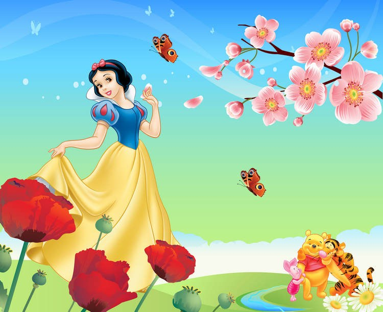 Beautiful Snow White And The Seven Dwarfs Design 3d