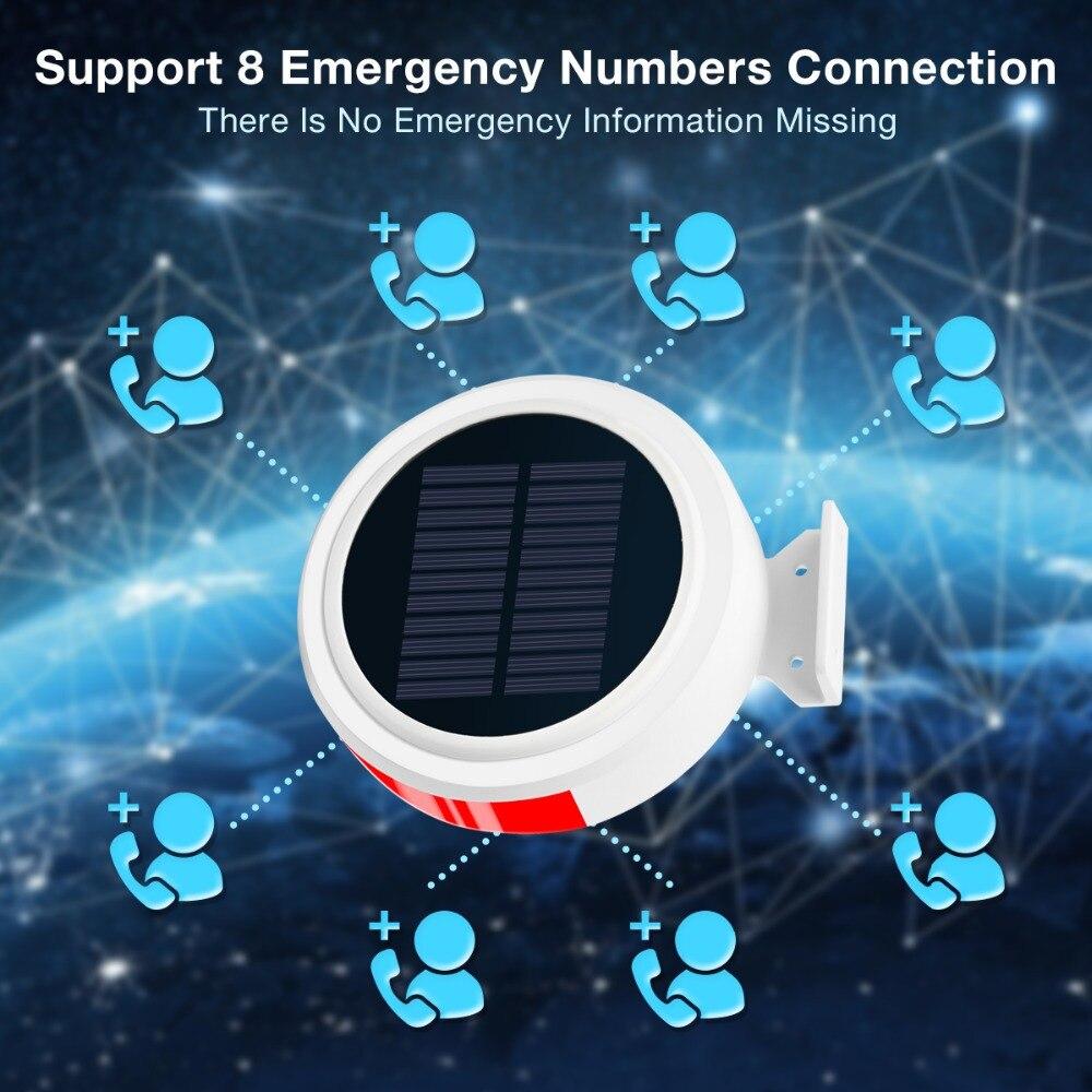Image 4 - Smart Home Security Alarm System Wireless Solar Powered Anti Burglar Alarm SMS Remote Control PIR Sensor Door Window Sensor-in Alarm System Kits from Security & Protection