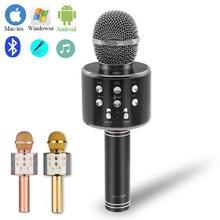 New Bluetooth Wireless Microphone Speaker Hight-end Handheld Karaoke Mic Music Player Singing Recorder KTV
