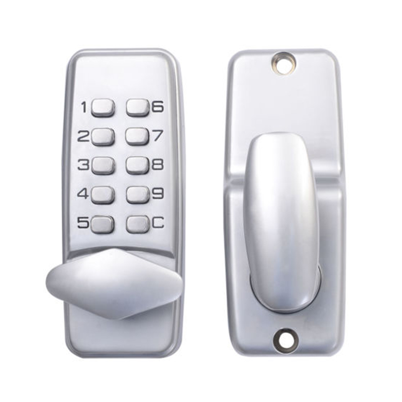 Digital mechanical code lock keypad password Door opening lock mechanical code door lock digital machinery keypad password entry lock stainless steel latch zinc alloy silver 1718