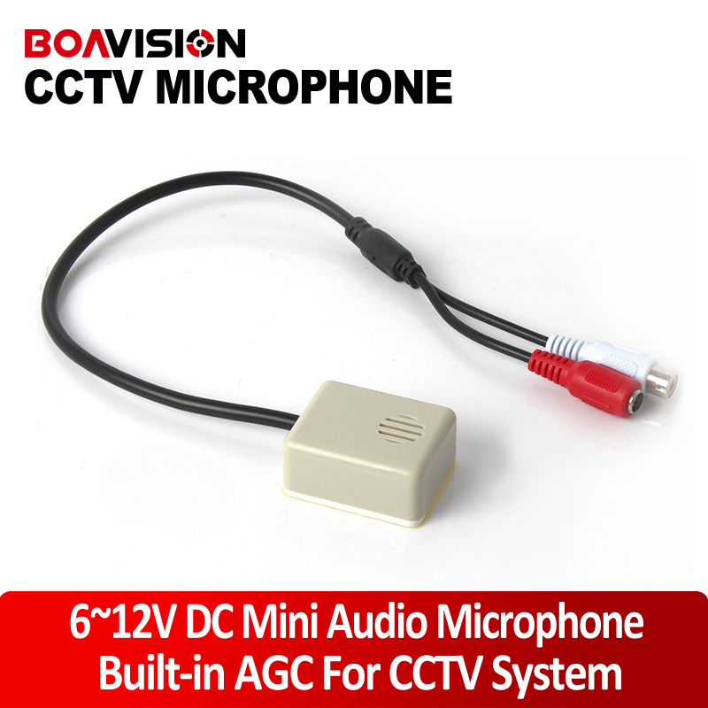 Audio Pick Up CCTV Mini Audio Microphone MIC Build-in AGC Auto Gain Control FOR The CAMERA System Video Recording audio pick up cctv microphone mini microphone for camera f78