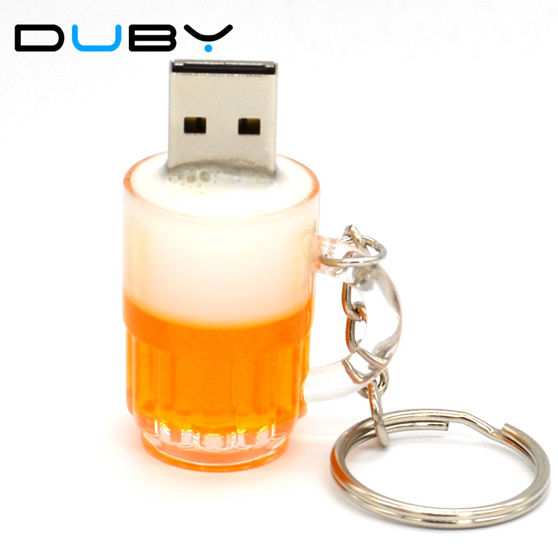 2016 Real capacity flash drive Plastic USB drives cute beer cup pendrives 4GB/8GB/16GB/32GB Personality gift flash memory