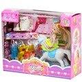 2015 мини-кукла для Куклы Барби Платье аксессуары установить детские Животные Кроватки Изысканный Подарочный Набор Diy Для барби Игрушки девушки