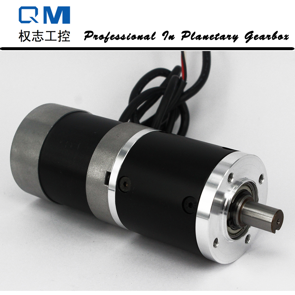 DC motor nema 23 100W gear dc brushless motor 24V bldc motor planetary reduction gearbox ratio 20:1