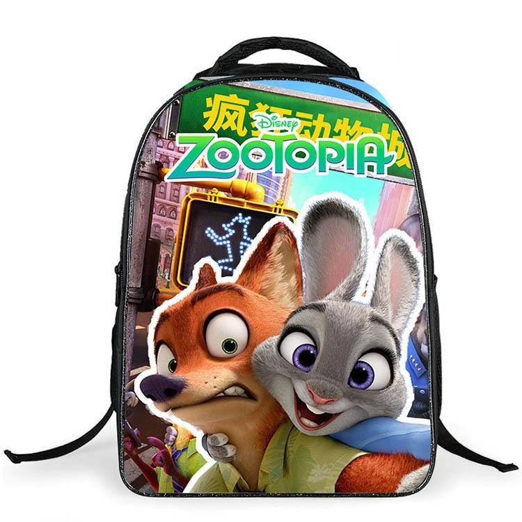 2c7086bb6f6f 2016 New 16 Inch Cartoon Zootopia Children Backpacks Cute Animal FOX Kids  School Bags for Girls Boys Satchel Mochilas Infantis