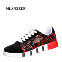 2017 New Arrivals Spring Man Casual Breathable Shoes Men Camouflage Stitching Style Shoes Black Red Punk