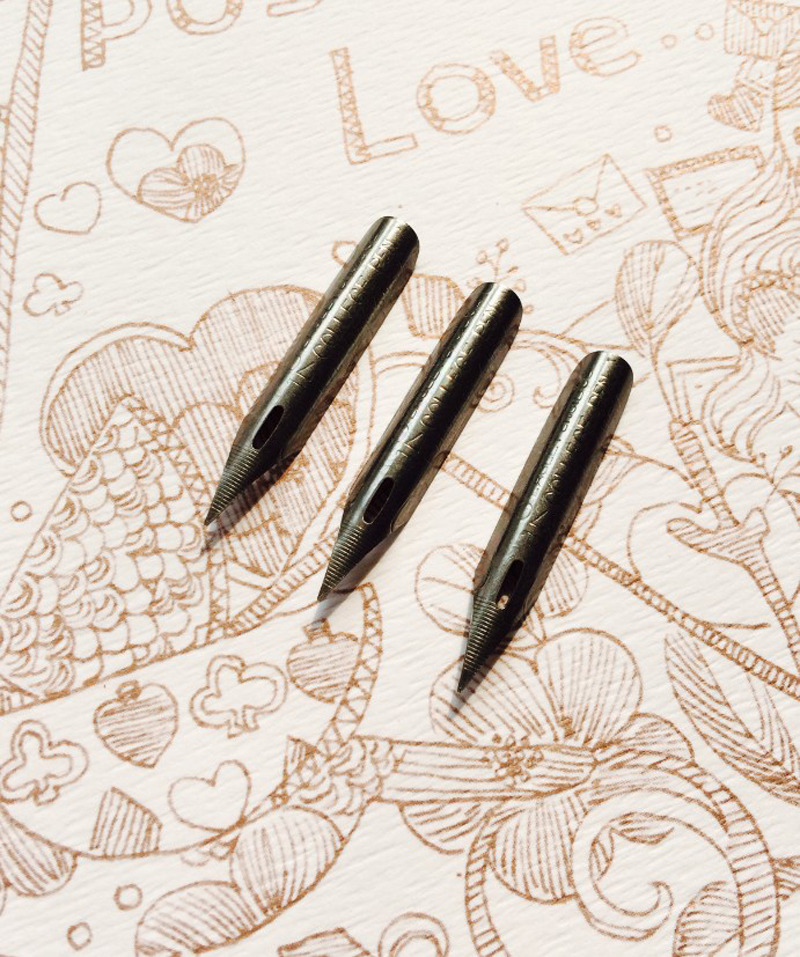 High Quality Antique Oblique Calligraphy Pen Nibs Deluxe