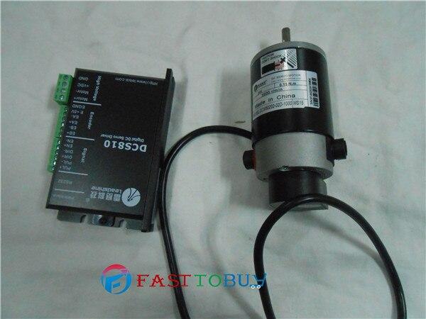 Почищенный щеткой DC привод с серводвигателем 50 Вт 0.15NM 3500 об/мин 18~ 80VDC DCM50202-02D-1000+ DCS810