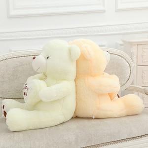 Image 4 - זול 50CM 70CM 90CM דובון דובי חיבוק ענק גדול צעצועי בובה ממולא בפלאש בעלי חיים אני אהבה אתה בובת ולנטיין מתנה עבור ילדה