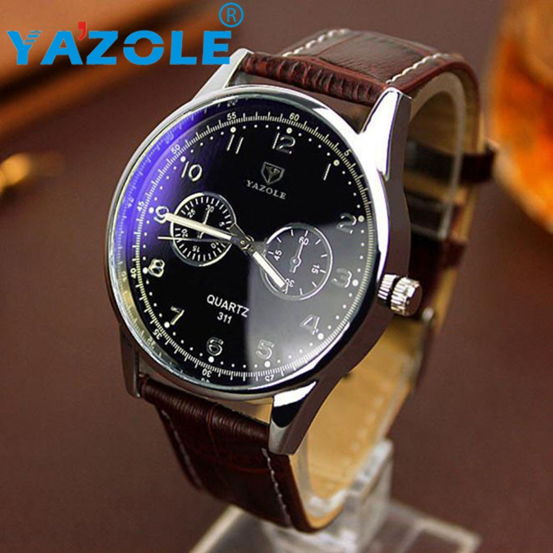 YAZOLE Men watch Luxury Brand Watches Quartz Clock Fashion Leather belts Watch Cheap Sports wristwatch relogio male #A82 green day green day awesome as fuck cd dvd