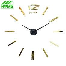 3D Wohnkultur DIY Digitale Große Wanduhr Modernes Design Horloge Wand Uhr Wohnzimmer Metall Acryl Spiegel Dekoration Uhren
