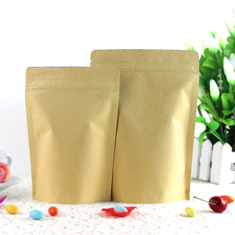 18*30+5 CM kraft paper thickened food bag melon seed packaging tea sealed plastic bag