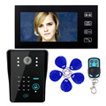 "Touch Key Video Intercom System 7"" LCD for RFID Password & IR Camera 1000 TV Line Remote Access Control System F1618A"