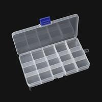 Doreen Box Plastic Adjustable Beads Organizer Container Storage Box Rectangle Clear 18x10 5cm 1 PC 15
