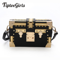Rivets Hit Color Messenger Small Square Bag New Shoulder Bag Package Europe And The United States