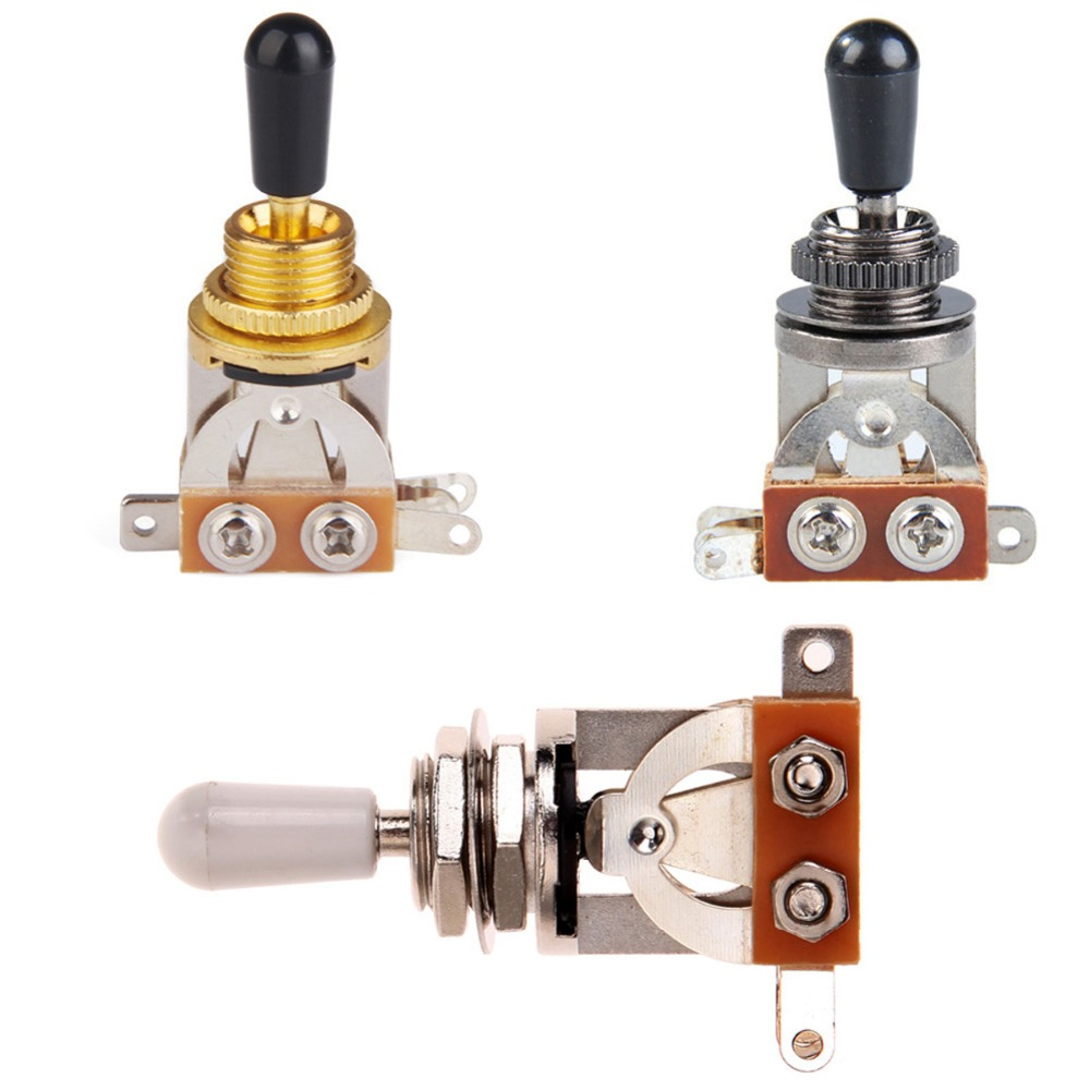 3-Way Guitar Pickup Switch Selector Pickup Toggle Switch Parts for Les Paul Gutar Accessories 3 way selector guitar pickup toggle switch for epi lp sg nickel gold