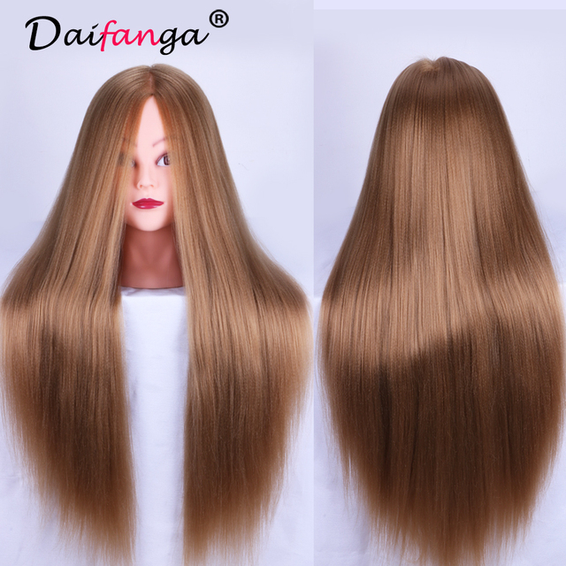 24 Mannequin Head Hair Yaki Synthetic Hairdressing Doll Heads Cosmetology Women Hairdresser Manikin