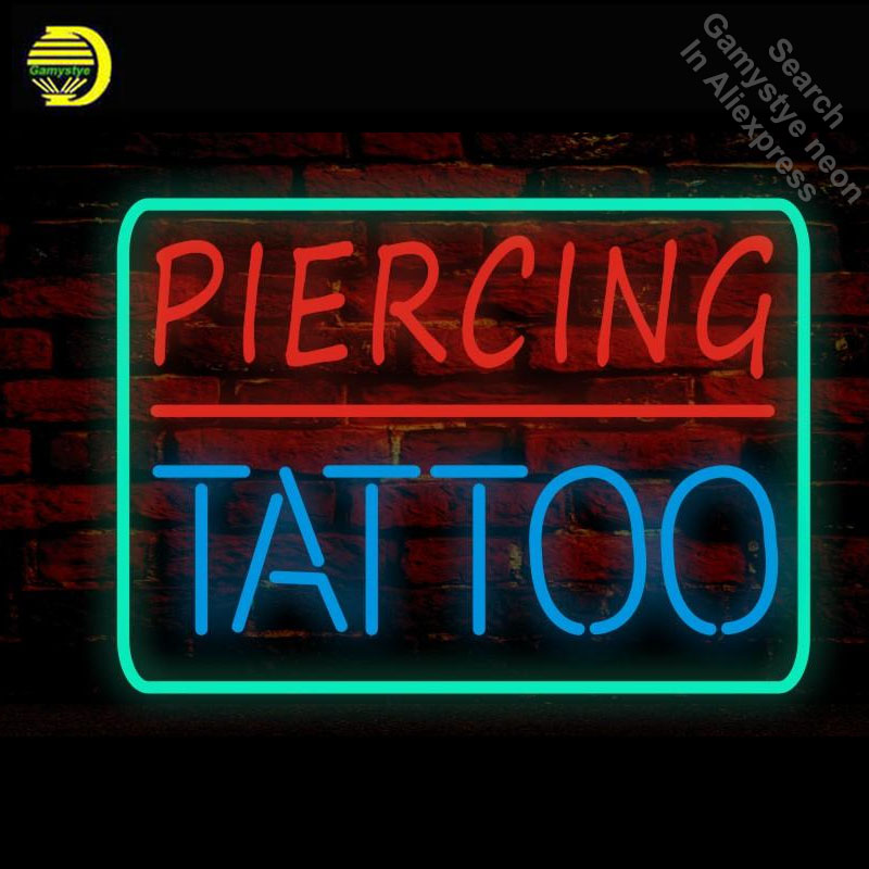 Piercing Tattoo Neon Sign handmade neon Signs Glass Tube neon lights Recreation shop Wall Windows Iconic Sign Neon Light LAmps