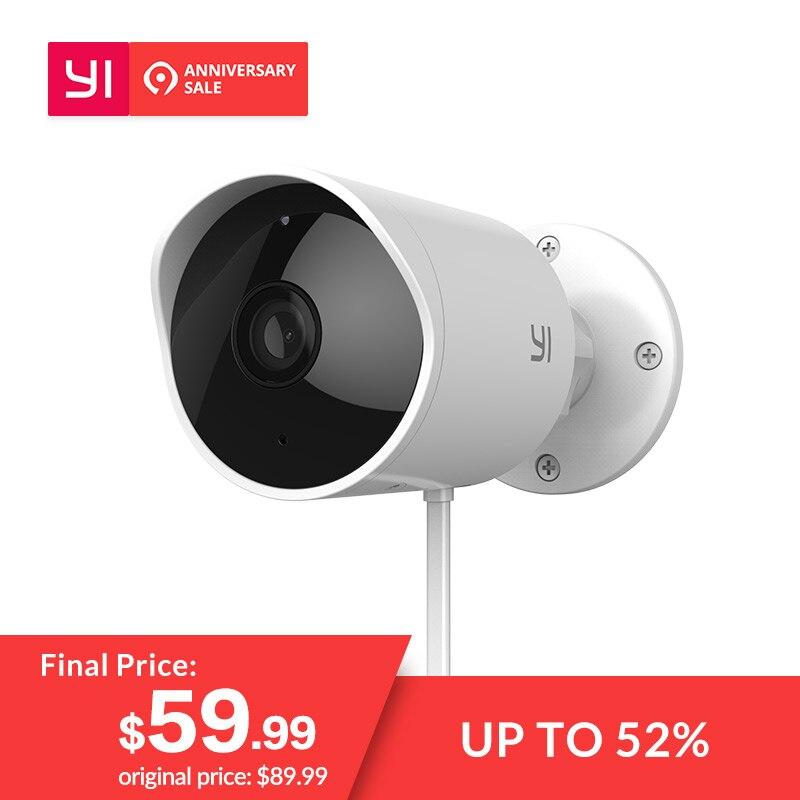 YI al aire libre cámara de seguridad Cloud Cam IP inalámbrica resolución de 1080 p impermeable noche visión, seguridad, sistema de vigilancia blanco