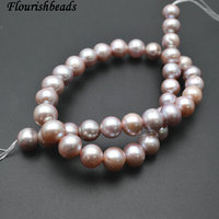 10 11mm Good Quality Natural Lilac Purple Color Fresh Water Pearl Round Loose Beads