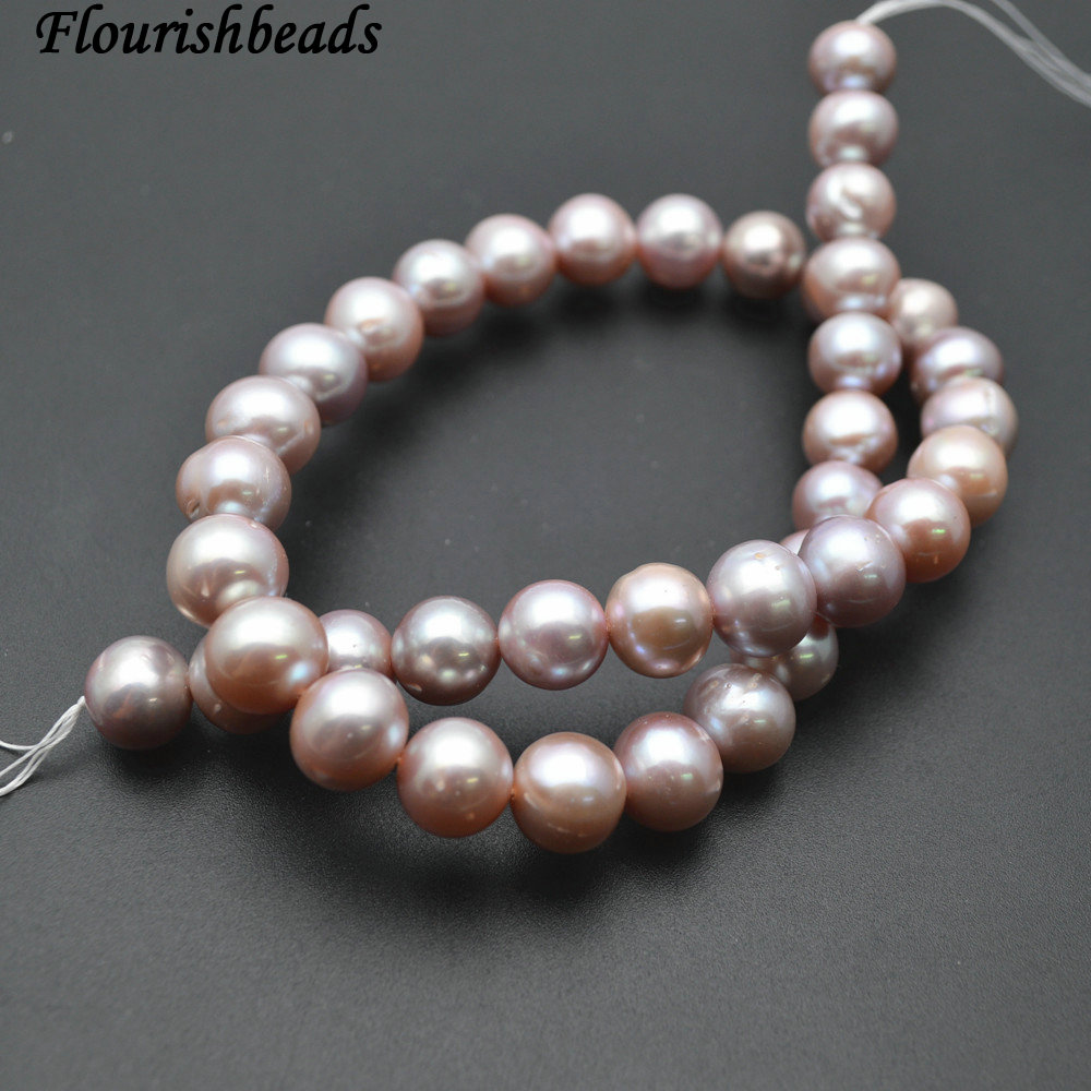 10~11mm Good Quality Natural Lilac Purple Color Fresh Water Pearl Round Loose Beads