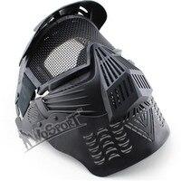 WosporT Paintball Óculos de Proteção de Malha de Aço Máscara Facial Grande Visão para Airsoft Militar Caça Tiro Ao Ar Livre CS Jogo de Guerra Proteja Máscara