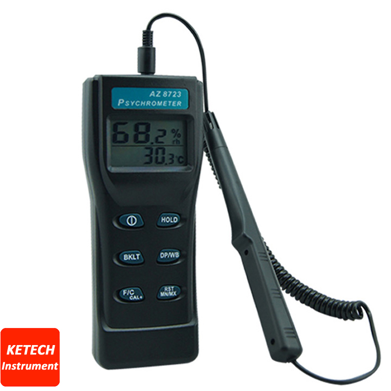 AZ8723 Handheld Temperature/Humidity/Dew Point Meter/Wet Bulb Temperature and Humidity Tester fast shipping az8723 temperature humidity dew point meter wet bulb temperature and humidity az 8723