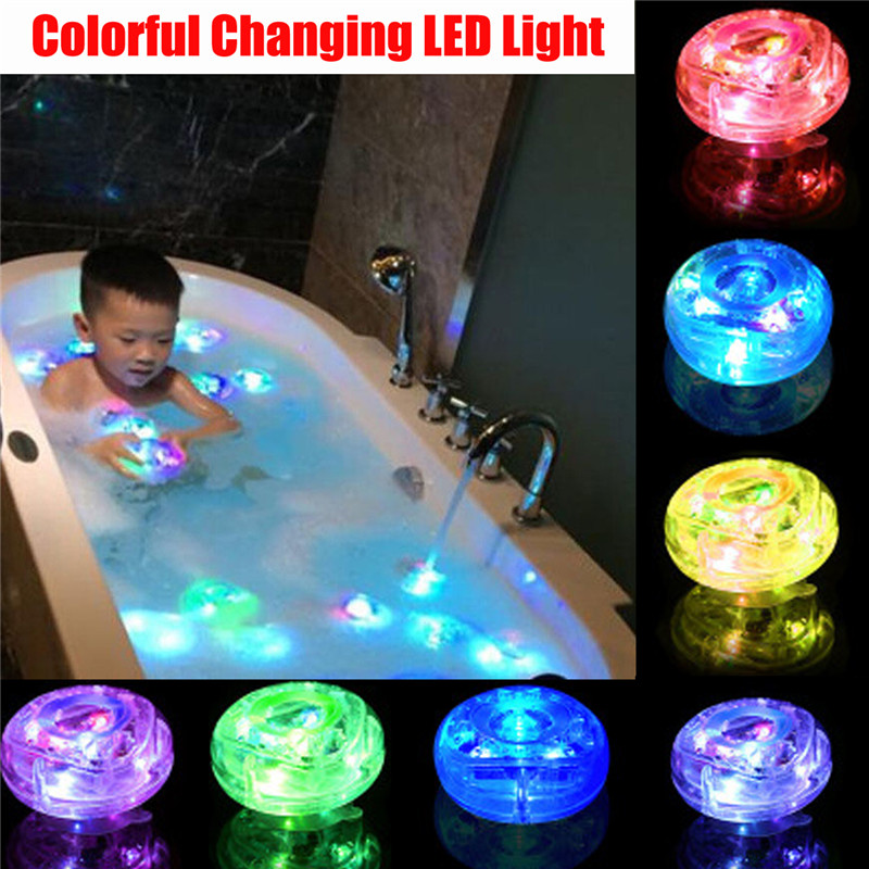 Kids Baby Shower Time Tub Bath LED Light Up Toys Colorful Changing Waterproof Underwater Lights