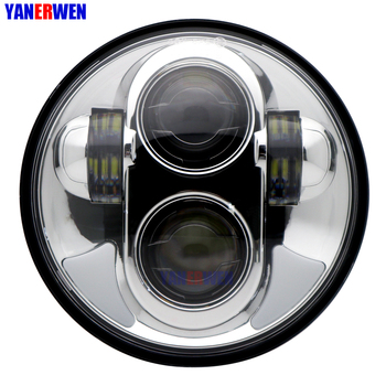 Motorcycle Headlight 5-3/4 5.75 Inch 40W LED Headlight with DRL Headlamp Projector Driving Light for Motorbike Honda Shadow