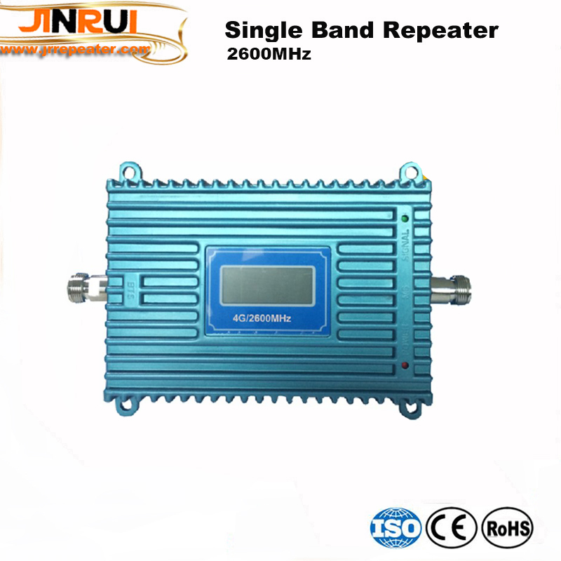 LCD Display 4G LTE Signal Booster 2600MHz 70dB Gain GSM Repeater LTE 4G 2600MHz Band 7 Mobile Cellular Phone Signal Amplifier