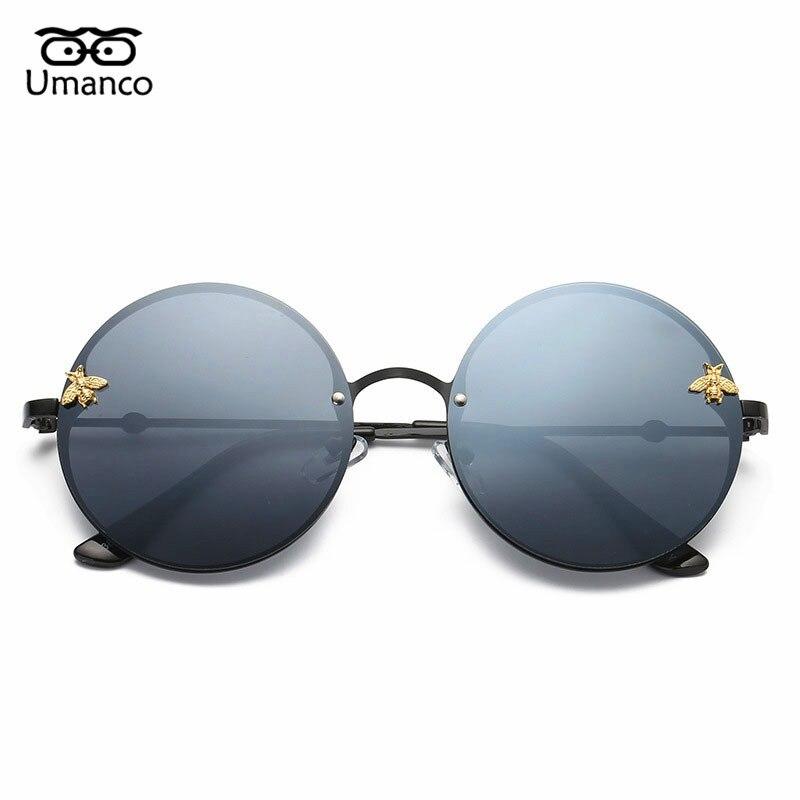 f81ce119d9cb0 Abelha Umanco Rodada óculos de Sol Das Mulheres Dos Homens Designer Marca  de Moda de Luxo