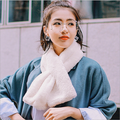 7 Colors Women's Fashion Winter Warm Velvet  Rex Rabbit Fur Scarves Soft Collar Thick Scarves