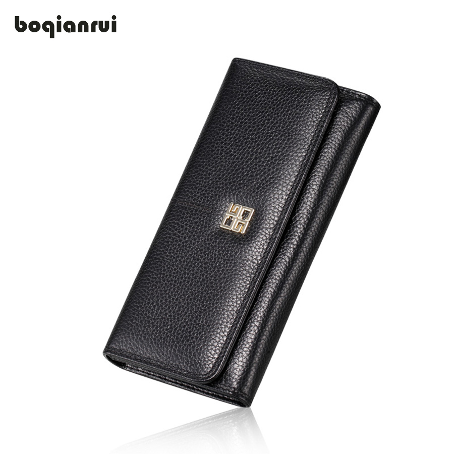 где купить Women Wallets Genuine Leather Wallet Female Purse Long Coin Purses Holders Ladies Wallet Hasp Fashion Womens Wallets And Purses дешево