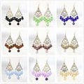 Fashion earings eardrop special diy colorful round shell pearl abacus crystal beads hot sale women jewelry B1316