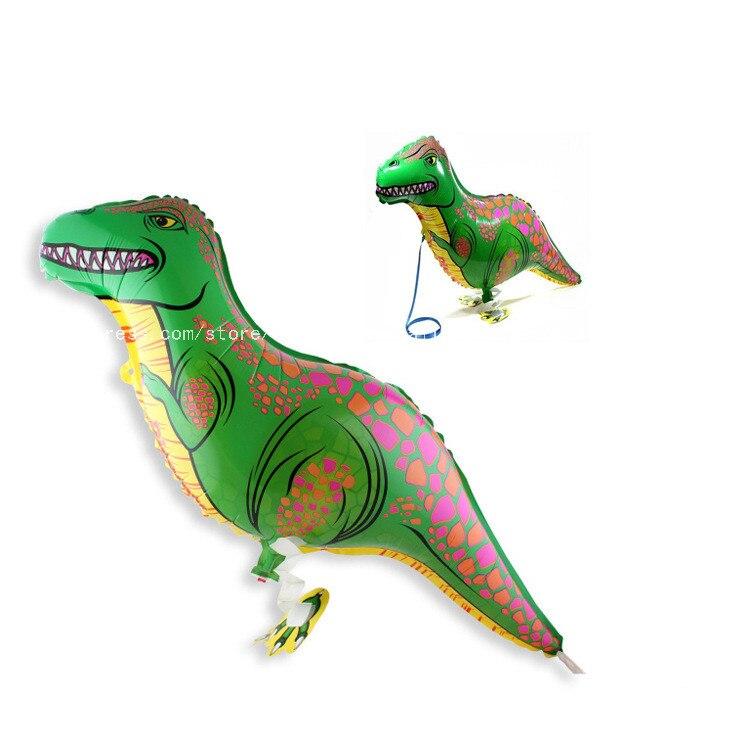 50pcs lot 84 40cm Dinosaur Pet Walking Animals Balloons Hulium Mylar Balloons Baby s toy Party