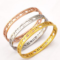 YUN RUO 3 Color Piercing Roman Number Bangle New Arrival Titanium Gold Plated Birthday Gift Woman Fine Jewelry Free Shipping
