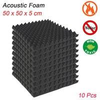 10pcs 500X500X50mm Soundproofing Foam Acoustic Foam Sound Treatment Studio Room Absorption Tiles Polyurethane foam