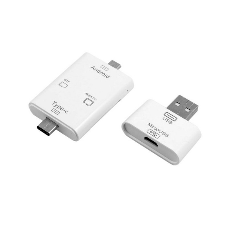 Free Shipping 3 in 1 USB 3.1 Type C USB-C & Micro USB OTG & TF SD Card Reader for Macbook Laptop PC Cell Phone Tablet satechi aluminum type c usb 3 0 and micro sd card reader gold b01eu2kri8 st tccrag