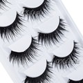 5 Pairs Lote Preto Natural Cílios Falsos Grosso Macio Longo Artesanal Maquiagem Falso Eye Lashes Extensão para As Mulheres