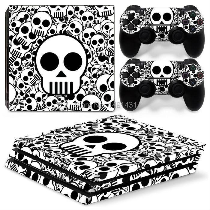 OSTSTICKER Good Quality Skull Design for PS4 Pro Controller Skin Sticker For Sony Playstation 4 PRO Console