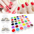 36 Pure Professional Mix Colors Pots Bling Gel Polish Cover UV Gel Nail Art Tips Nail Polish Extension Manicure for Girl