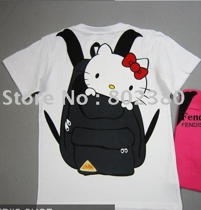 Funny t shirts design t shirts japanese style cartoon for Hello kitty t shirt design