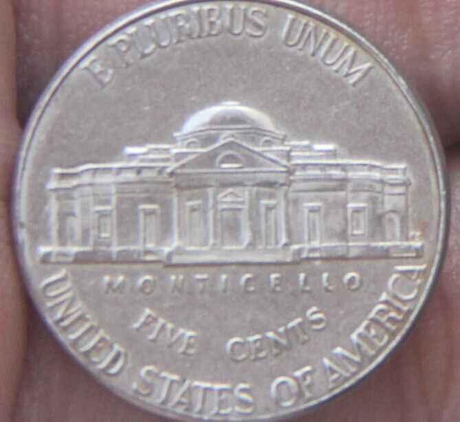 21.5 milímetros Jefferson níquel 5 Centavos Moeda 1938-2004 Níquel (Estados unidos Da América) Condição Usado
