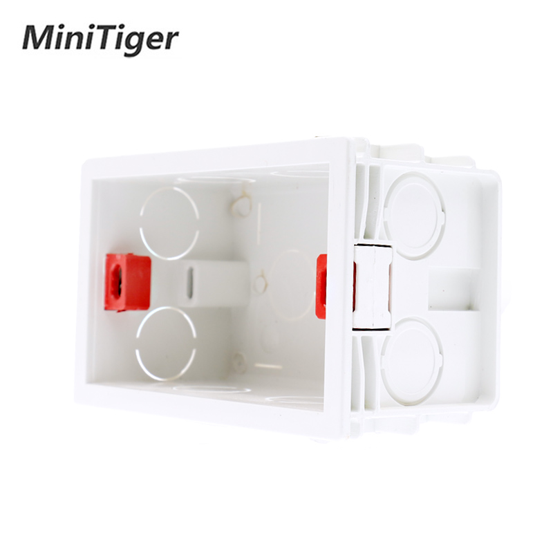 EsooLi 101mm*67mm US Standard Internal Mounting Box Back Cassette For 118mm*72mm Standard Wall Touch Switch And USB Socket