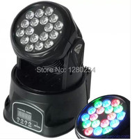 Dj americano led 18 * 3 W RGB 3 em 1 led mini moving head wash luz